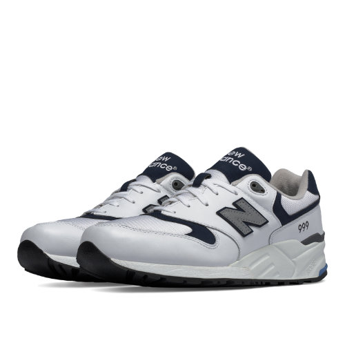 New Balance 999 90s Running Men's Shoes - White / Navy (ML999LUC)