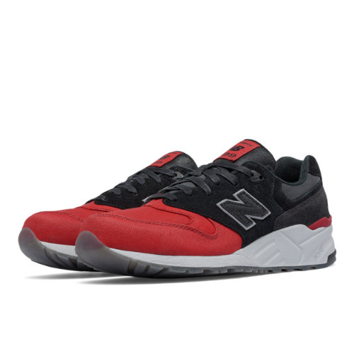 New Balance 999 Canvas Waxed Men's Elite Edition Shoes - Black / Red (ML999WXB)