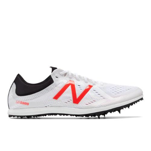 New Balance Spike 5000v5 Men's Track Spikes Shoes - White / Red / Black (MLD5KWR5)