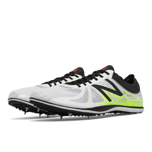 New Balance LD5000v4 Spike Men's Track Spikes Shoes - White / Yellow (MLD5KWY4)