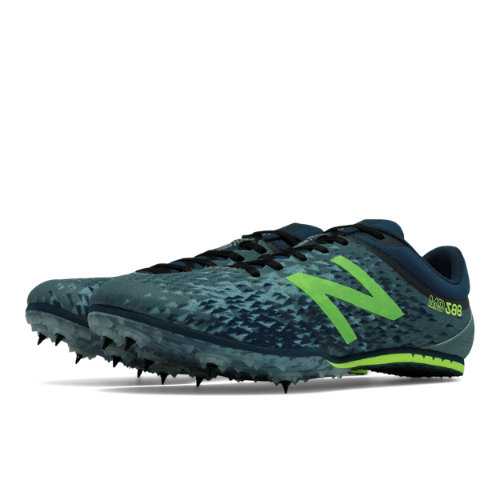 New Balance MD500v5 Spike Men's Track Spikes Shoes - Grey / Green (MMD500G5)