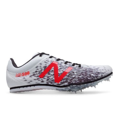 New Balance MD500v5 Spike Men's Track Spikes Shoes - White / Red / Black (MMD500W5)