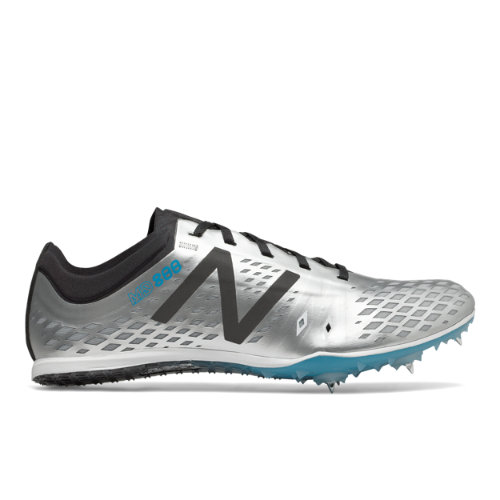 New Balance MD800v5 Spike Men's Track Spikes Shoes - Silver / Black (MMD800S5)