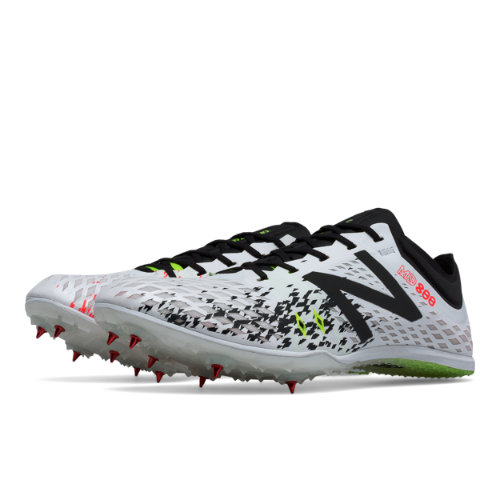 New Balance MD800v5 Spike Men's Track Spikes Shoes - White / Black (MMD800W5)