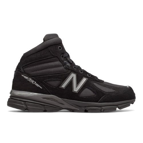 New Balance Made in USA 990v4 Mid Men's Shoes - Black / Grey (MO990BK4)