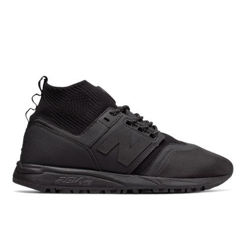 New Balance 247 Mid Men's Sport Style Mid-Cut Shoes - Black (MRL247OB)