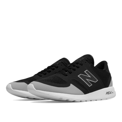 New Balance 420 Re-Engineered Men's Sport Style Sneakers Shoes - Black / Light Grey (MRL420GG)