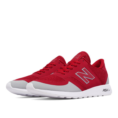 New Balance 420 Re-Engineered Men's Sport Style Sneakers Shoes - Red / Light Grey (MRL420GR)