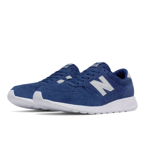 New Balance 420 Re-Engineered Suede Men's Sport Style Sneakers Shoes - Blue / White (MRL420SB)