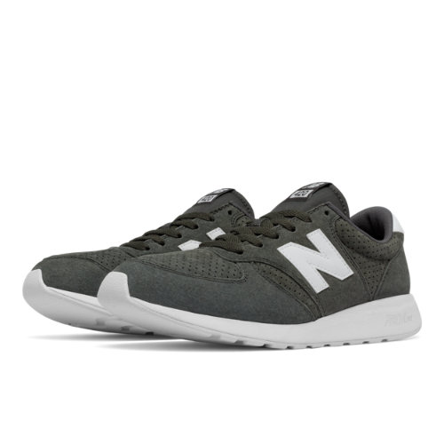 New Balance 420 Re-Engineered Suede Men's Sport Style Sneakers Shoes - Grey / White (MRL420SG)
