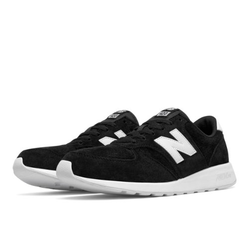 New Balance 420 Re-Engineered Suede Men's Sport Style Sneakers Shoes - Black / White (MRL420SN)