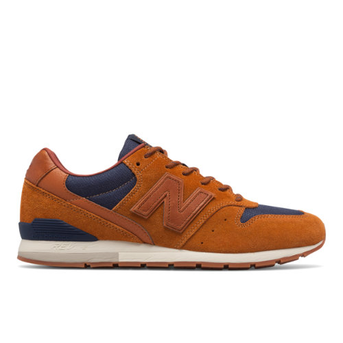 New Balance 696 Men's Sport Style Sneakers Shoes - Brown / Navy (MRL696MR)