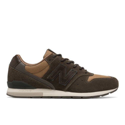 New Balance 696 Men's Sport Style Sneakers Shoes - Military Green / Brown (MRL696MT)