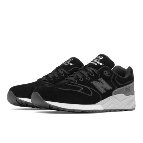 New Balance 999 Re-Engineered Suede Men's Sport Style Sneakers Shoes - Black / Grey (MRL999BA)