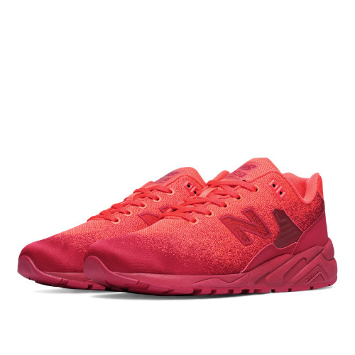 New Balance 580 Re-Engineered Textile Men's Sport Style Sneakers Shoes - Flame / Red (MRT580JG)