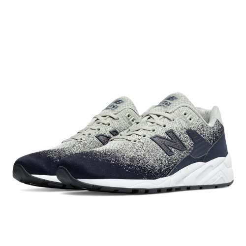 New Balance 580 Re-Engineered Textile Men's Sport Style Sneakers Shoes - Grey / Navy (MRT580JV)