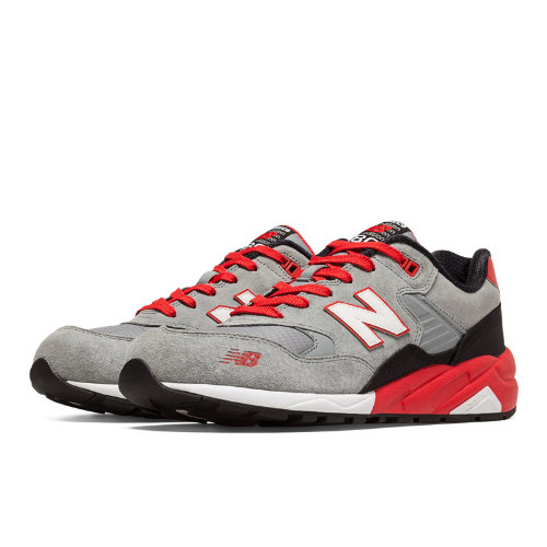 New Balance 580 Elite Mecha Men's Elite Edition Shoes - Grey, Red, Black (MRT580SR)