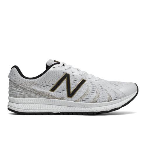 New Balance FuelCore Rush v3 Viz Pack Men's Speed Shoes - White / Gold / Black (MRUSHSW3)