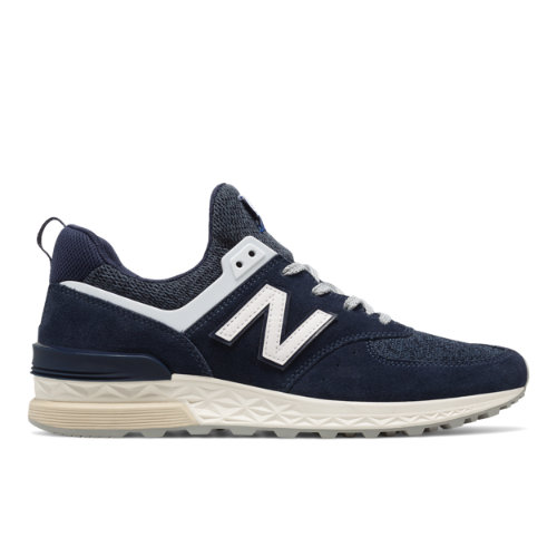 New Balance 574 Sport Men's Sport Style Sneakers Shoes - Navy / White (MS574BB)