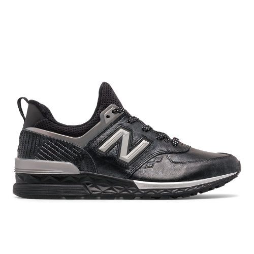 New Balance 574 Sport Black Panther Men's Sport Style Shoes - Black / Silver  (MS574BKP)