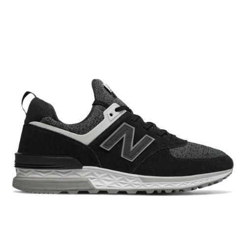 New Balance 574 Sport Men's Sport Style Shoes - Black / White (MS574CC)