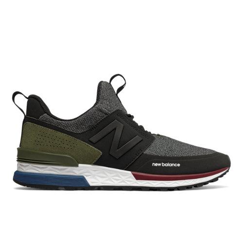 New Balance 574 Sport Men's Sport Style Shoes - Black (MS574DTD)