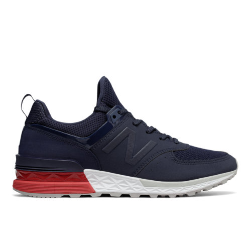 New Balance 574 Sport Men's Sport Style Sneakers Shoes - Navy / Red (MS574SCO)