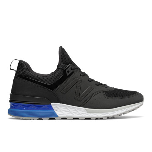 New Balance 574 Sport Men's Sport Style Sneakers Shoes - Black / Blue (MS574SCS)