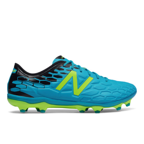 New Balance Visaro 2.0 Pro FG Men's Soccer Shoes - Blue / Black / Hi-Lite (MSVPFMH2)