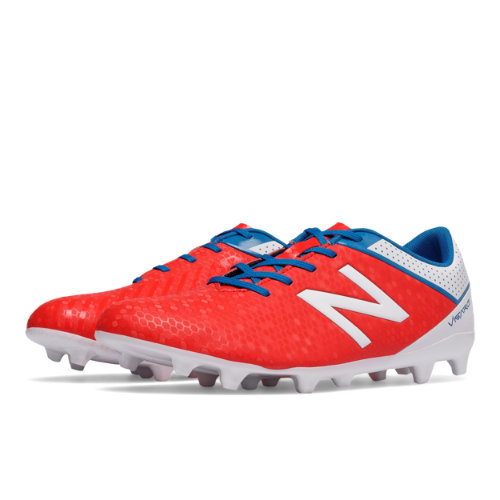 New Balance Visaro Control FG Men's Soccer Shoes - Red / White / Blue (MSVRCFAW)