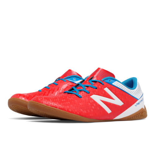 New Balance Visaro Control IN Men's Soccer Shoes - Red / White / Blue (MSVRCIAW)