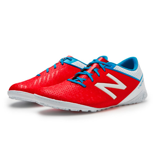 New Balance Visaro Control TF Men's Soccer Shoes - Red / White / Blue (MSVRCTAW)
