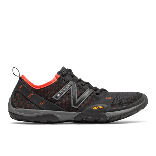 New Balance Minimus Trail 10 Men's Trail Running Shoes - Black / Orange (MT10BA)