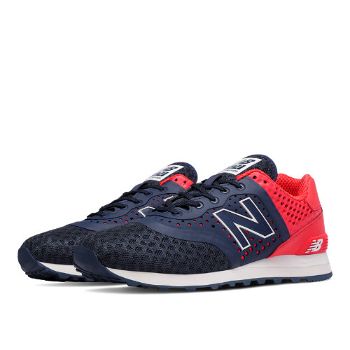 New Balance 574 Re-Engineered Men's Shoes - Navy / Red (MTL574CC)