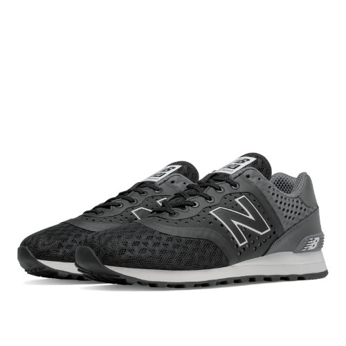 New Balance 574 Re-Engineered Men's Sport Style Sneakers Shoes - Black / Grey (MTL574CG)