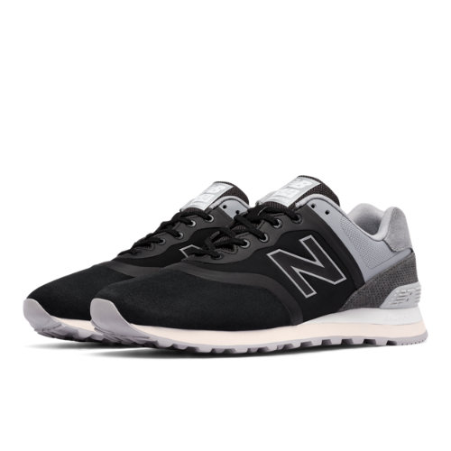 New Balance 574 Re-Engineered Men's Sport Style Sneakers Shoes - Black / Grey (MTL574DC)