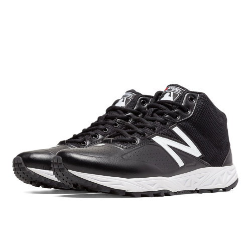 New Balance Mid-Cut 950v2 Men's Umpire Shoes - Black, White (MU950MW2)