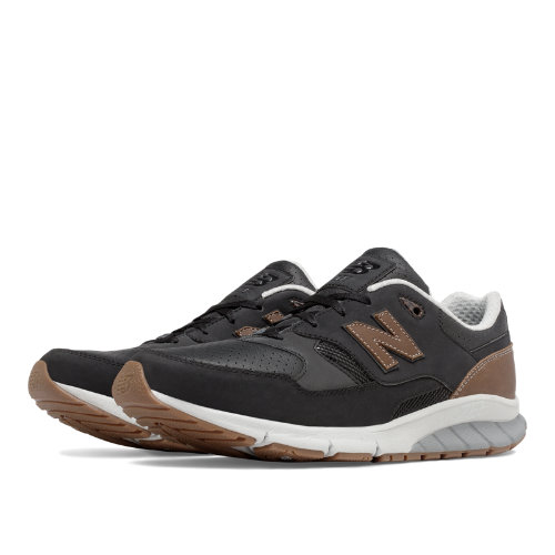 New Balance 530 Vazee Leather Men's Sport Style Sneakers Shoes - Black / Tan (MVL530RB)