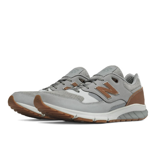 New Balance 530 Vazee Leather Men's Sport Style Sneakers Shoes - Grey / Tan (MVL530RG)