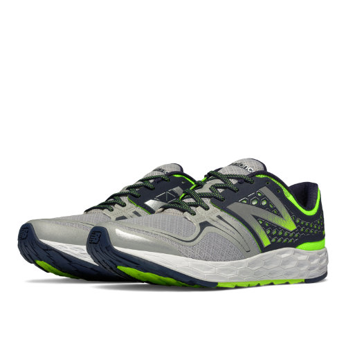 New Balance Fresh Foam Vongo Men's Soft and Cushioned Shoes - Grey, Outer Space, Toxic (MVNGOWG)