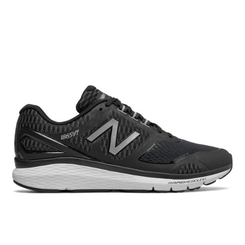 New Balance 1865 Men's Fitness Walking Shoes - Black / Silver (MW1865BS)