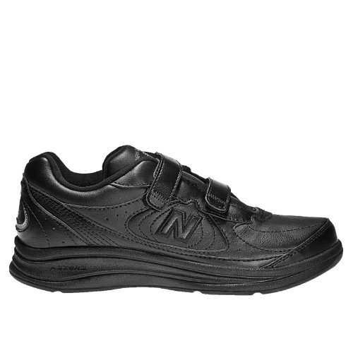 New Balance Hook and Loop 577 Men's Health Walking Shoes - Black (MW577VK)