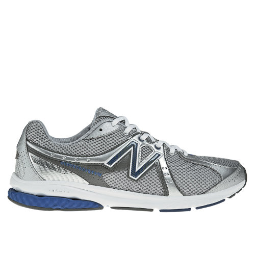 New Balance 665 Men's Fitness Walking Shoes - Silver, Blue (MW665SB)