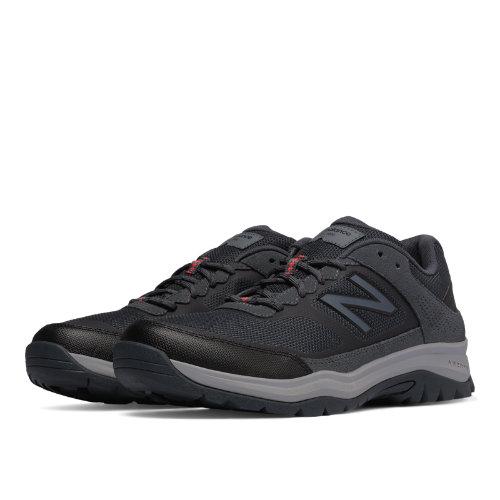 New Balance 669 Men's Trail Walking Shoes - Dark Grey, Red (MW669GY)