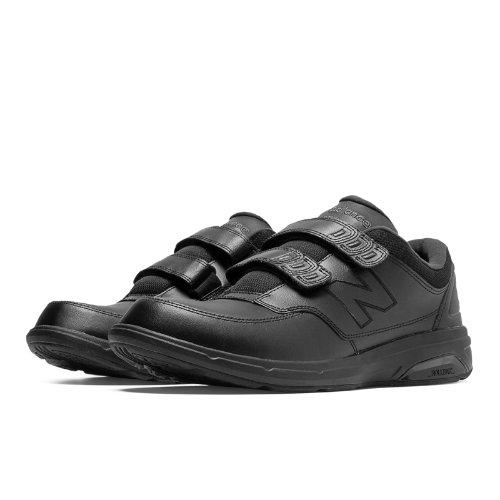 New Balance Hook and Loop 813 Men's Health Walking Shoes - Black (MW813HBK)