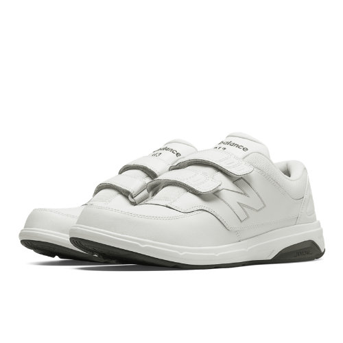 New Balance Hook and Loop 813 Men's Health Walking Shoes - White (MW813HWT)