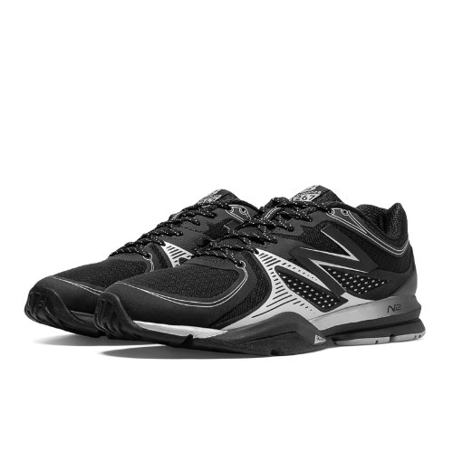 New Balance 1267 Men's Cross-Training Shoes - Black, Silver (MX1267BK)
