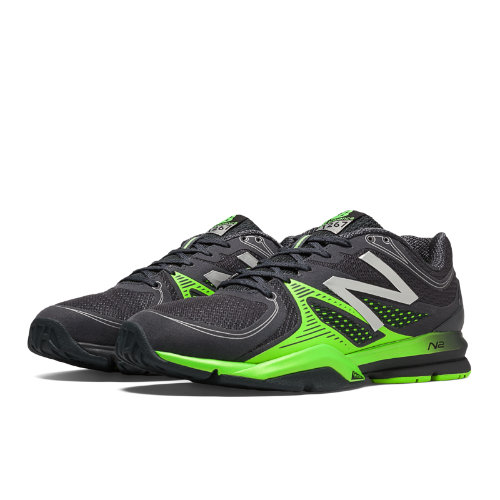 New Balance 1267 Men's Cross-Training Shoes - Black, Acidic Green (MX1267BY)