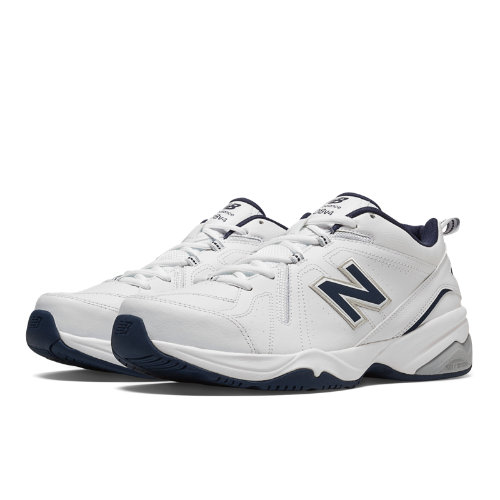 New Balance 608v4 Men's Everyday Trainers Shoes - White, Navy (MX608V4W)