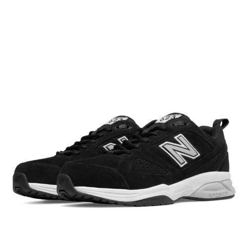 New Balance 623v3 Suede Trainer Men's Shoes - Black (MX623BK3)